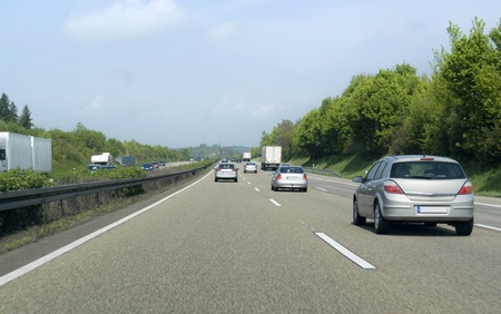 road scenery on a highway in Southern Germany at summer time Imagens