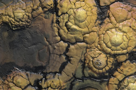abstract detail of brown pastose painting photo