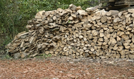 some stacked fire wood Stock Photo - 11684603