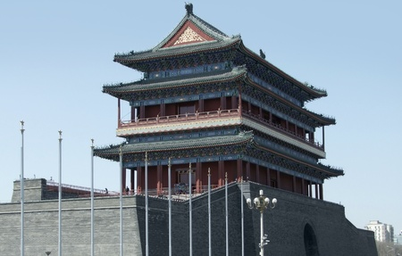 gatehouse: the Zhengyangmen Gatehouse of the historic Beijing city wall in China