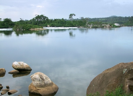 waterside scenery showing the River Nile near Jinja in Uganda (Africa) Stock Photo - 11014459
