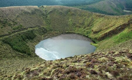 crater lake: small crater lake at S