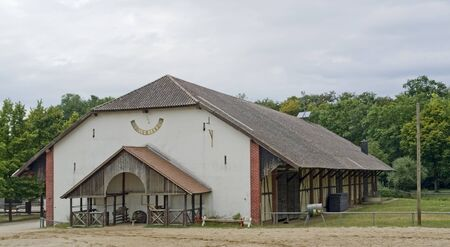 part of a farmstead at summer time in Southern Germany