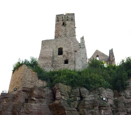 wertheim: low angle shot of Wertheim Castle in Southern Germany at summer time