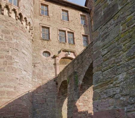 wertheim: low angle detail of the Wertheim Castle in Southern Germany