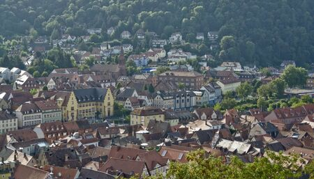wertheim: aerial view of a city named Wertheim am Main (Southern Germany) at summer time in sunny ambiance