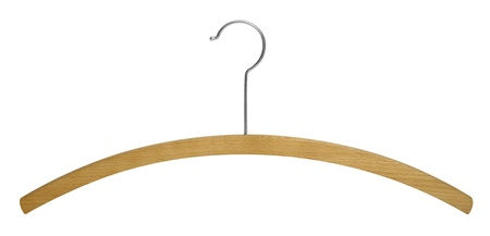 studio photography of a simple wooden clothes hanger Stock Photo - 11766232