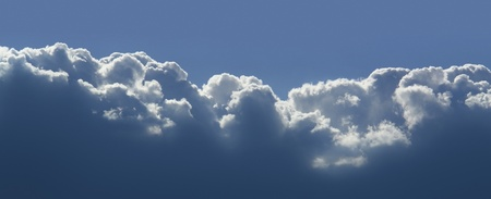 moistness: soleggiato paesaggio nuvola illuminata in cielo blu