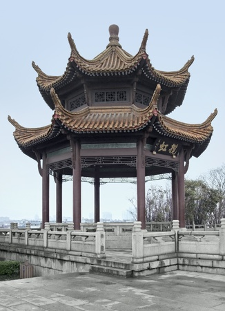 traditional pavilion in Wuhan, a big city in China Stock Photo - 11014576