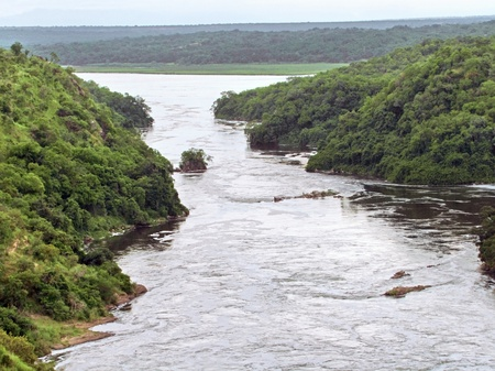 high angle view around the Murchison Falls in Uganda (Africa) Stock Photo - 11014631