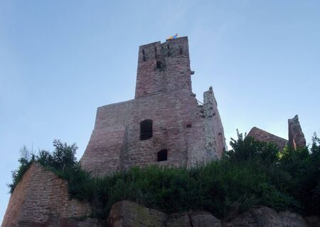 wertheim: low angle shot of the Wertheim Castle in Southern Germany at evening time