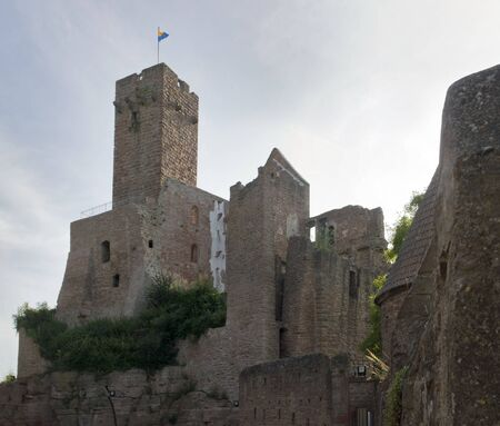 wertheim: low angle shot of Wertheim Castle in Southern Germany at evening time
