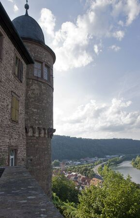 wertheim: architectural scenery around Wertheim Castle in Southern Germany at summer time