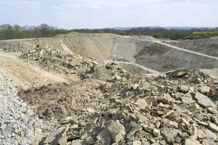 stone pit in Southern Germany at summer time photo