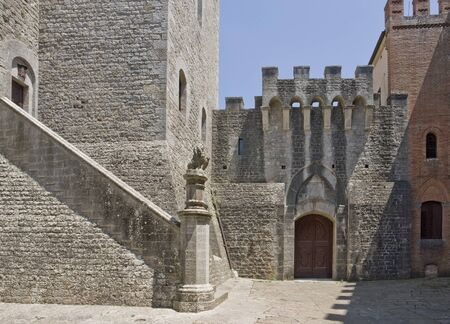 architectural detail at Castle of Brolio near Gaiole in Chianti, located in the italian region Tuscany