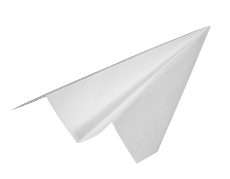 studio photography of a paper plane photo
