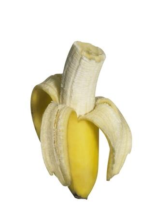 fresh bitten off banana photo