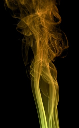 wavily: abstract picture showing some colorful smoke in dark back
