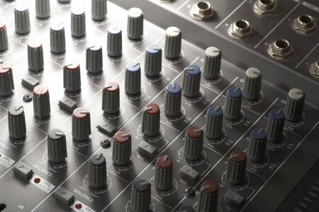 full frame detail of a studio mixer Stock Photo - 11015257