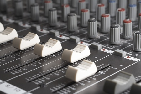 full frame detail of a studio mixer photo