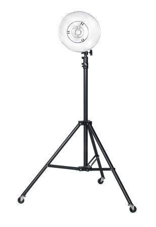 professional studio flashlight isolated on white Stock Photo - 11089990
