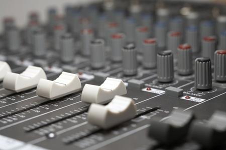 full frame detail of a studio mixer
