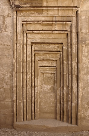 architectural detail at the Precinct of Amun-Re in Egypt (Africa)