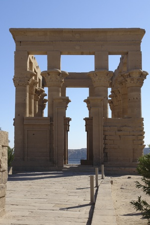 part from the Temple of Philae in Egypt (Africa) in sunny ambiance photo