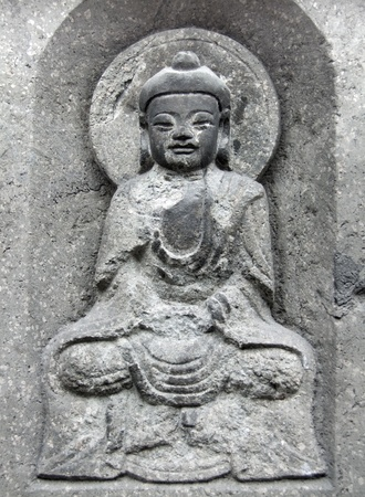 jade buddha temple: old historic stone sculpture at the Jade Buddha Temple in Shanghai