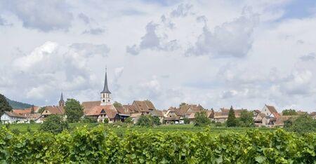 des vins: village named Mittelbergheim, a village of a region in France named Alsace
