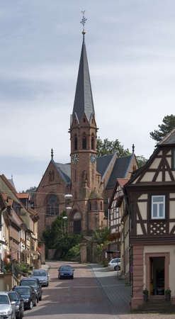 city view of Miltenberg, a small town in Southern Germany at summer time Stock Photo - 11093772