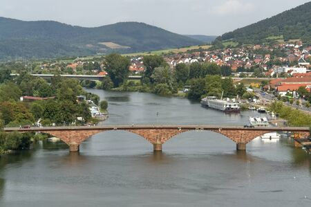 aerial view of Miltenberg, a small town in Southern Germany at summer time photo