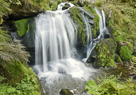 scenery showing the Triberg Waterfalls in the Black Forest in Southern Germany at summer time