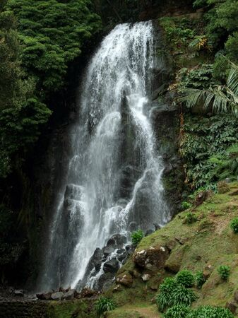 agriculture azores: cascade at Sao Miguel Island