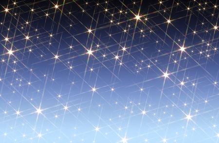 agleam: fondo azul degradado manchada con las estrellas brillantes Foto de archivo