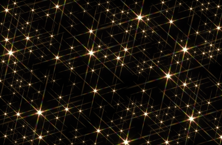 flashy: black background blotched with shiny stars