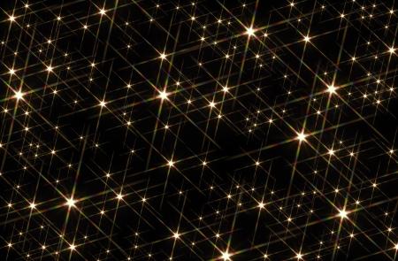 Schwarzer Hintergrund gestromt mit glänzenden Sterne Standard-Bild - 12412649