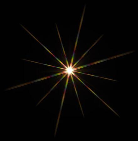 agleam: estrella de la pel�cula llamativo centro de atenci�n hecha con un filtro �ptico en estrella en la c�mara