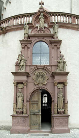 ornamented: architectural detail at a castle named Fortress Marienberg located in Bavaria  Germany  Editorial