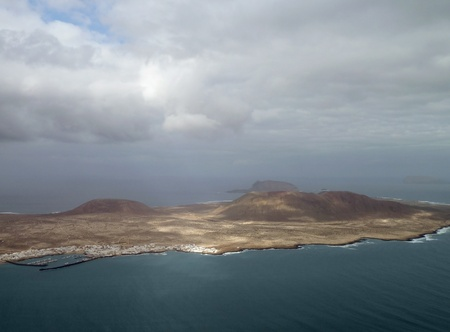 aerial view of Lanzarote, part of the Canary Islands  Spain  photo