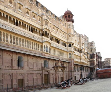 bikaner: the Junagarh Fort in Bikaner, a city in India