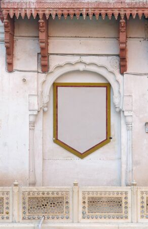 bikaner: decorative detail of a facade in Bikaner, India