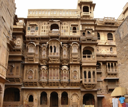 city view of Jaisalmer, a town in India photo