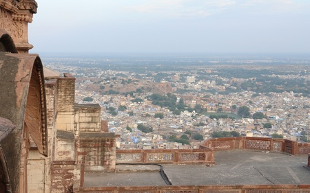 city view of Jodhpur in India, seen from Mehrangarh Fort Stock Photo - 13251110