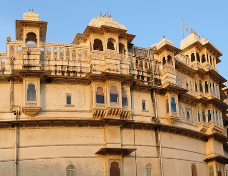 detail of the City Palace in Udaipur, a city located in Rajasthan, India Stock Photo - 13315839