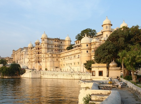 the City Palace in Udaipur, a city located in Rajasthan, India