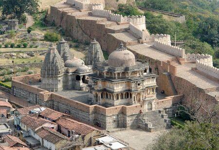 scenery around Kumbhalgarh located in Rajasthan, India photo