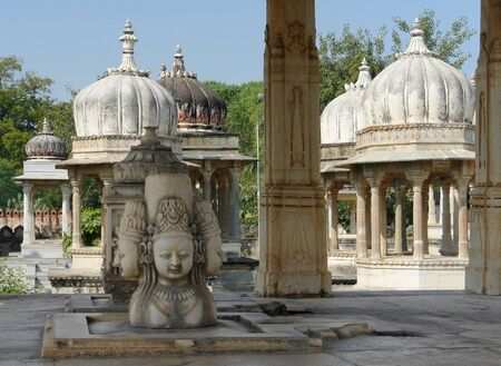 scenery at the Ahar Cenotaphs located in Ahar near Udaipur in India Stock Photo - 13424674