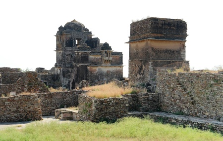 chittorgarh fort: Chittorgarh Fort located in Rajasthan  India  at evening time