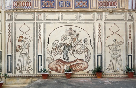 detail of the City Palace in Karauli, a city in Rajasthan, India Stock Photo - 13491183